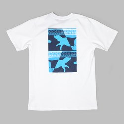 POLAR SKATE CO. MAN WITH DOG TEE 1 WHITE