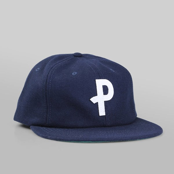 POLAR SKATE CO. P WOOL CAP NAVY