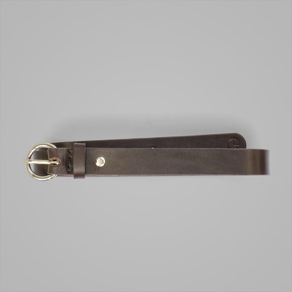 POLAR SKATE CO. RING BELT LEATHER BROWN