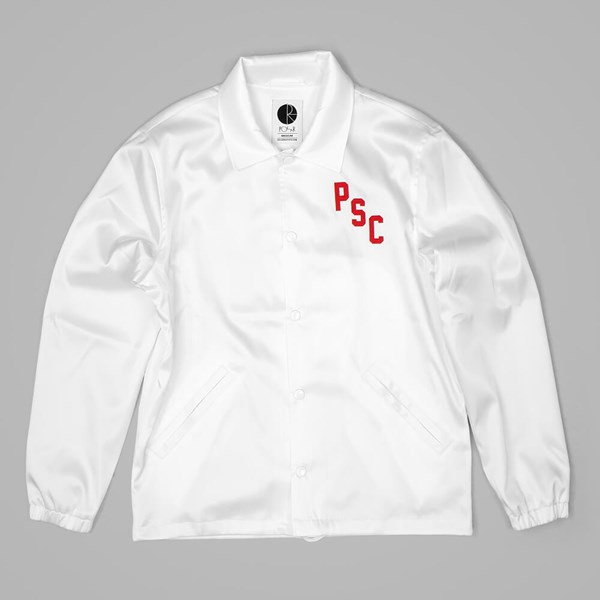 POLAR SKATE CO. SKATE CLUB JACKET WHITE