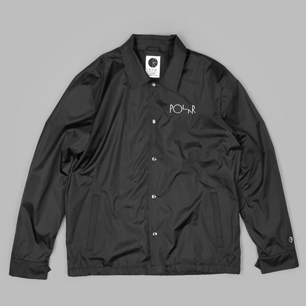 POLAR SKATE CO. STROKE COACH JACKET BLACK