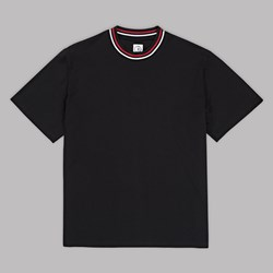 POLAR SKATE CO. STRIPED RIB SS T-SHIRT BLACK