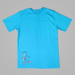 POLAR X DEAR SKATING TV KID T-SHIRT TURQUOISE