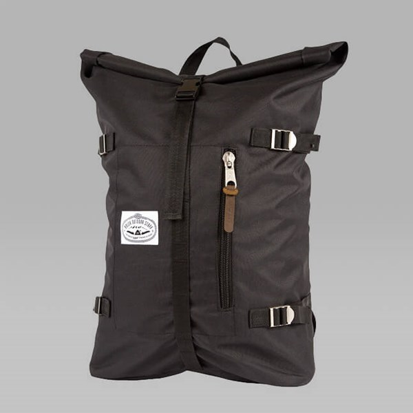 POLER RETRO ROLLTOP BACKPACK BLACK