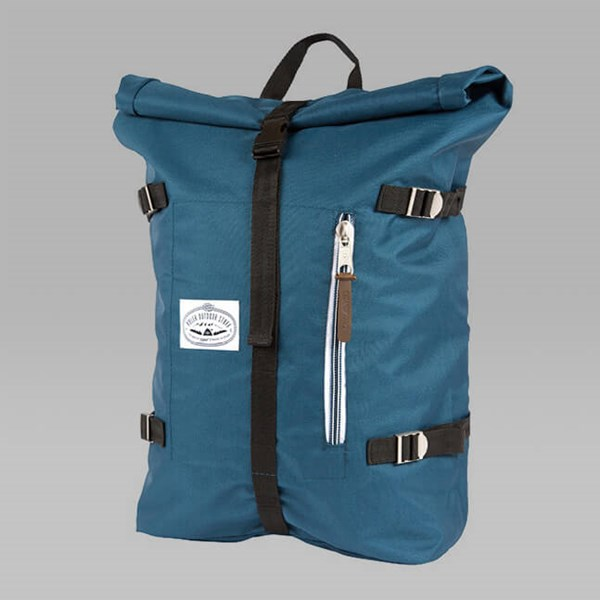 POLER RETRO ROLLTOP BACKPACK BLUE STEEL