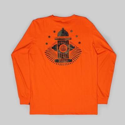 POST DETAILS HYDRANT LONG SLEEVE TEE ORANGE