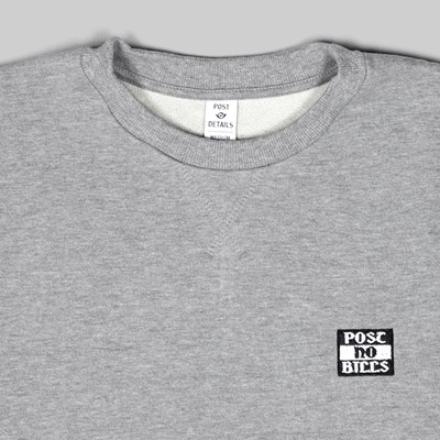 POST DETAILS NO BILLS CLASSIC CREW GREY