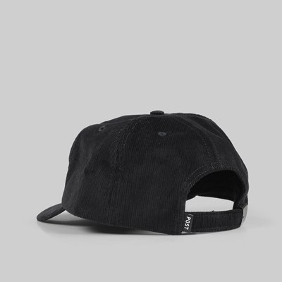POST DETAILS ROSE SIX PANEL CAP BLACK