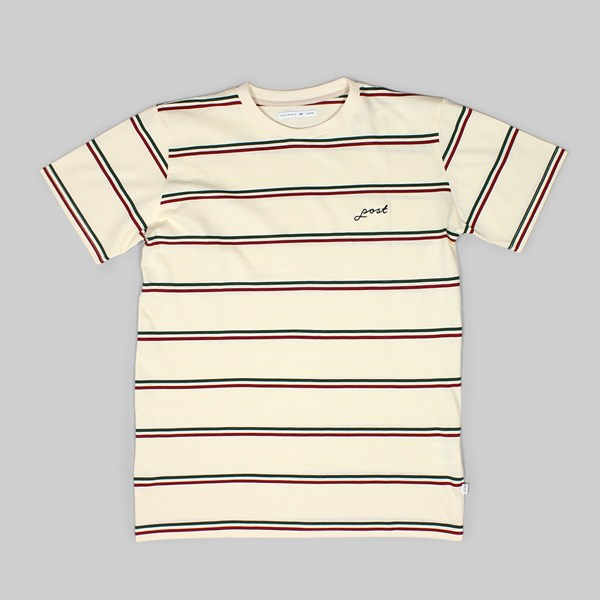 POST DETAILS STRIPE SS T- SHIRT WHITE