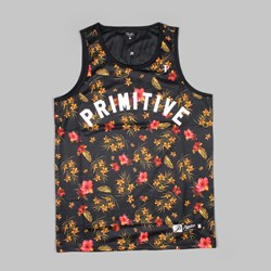 PRIMITIVE PARADISE MESH TANK TOP BLACK