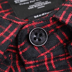 PUBLISH JAVI Basket weave plaid L/S SHIRT RED BLACK