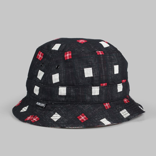PUBLISH NICOLO REVERSIBLE BUCKET HAT BLK