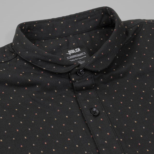 PUBLISH VALERIO SS SHIRT BLACK