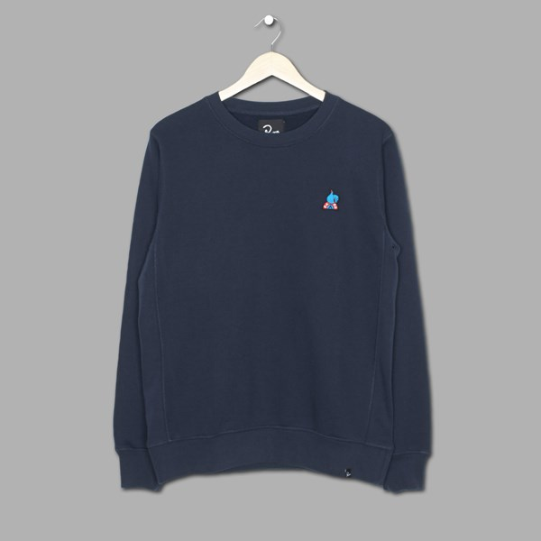 BY PARRA THUMBS UP CREW SWEAT NAVY