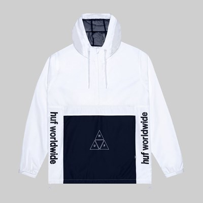 HUF PEAK 3.0 ANORAK JACKET WHITE
