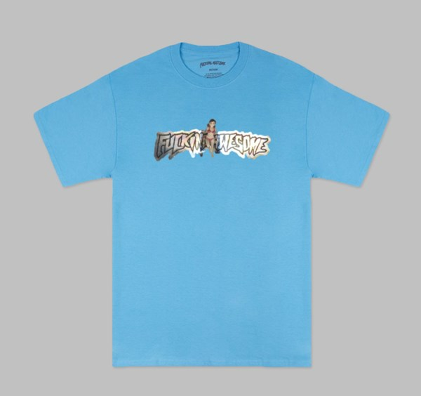 FUCKING AWESOME PLASTIC WOMAN TEE AQUATIC BLUE