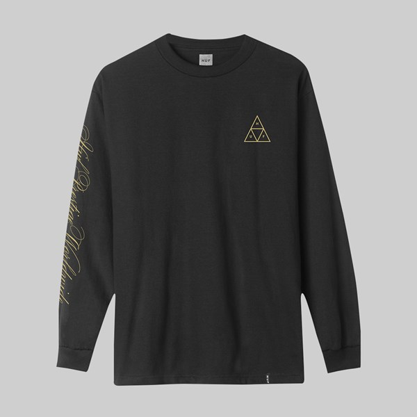 HUF PRESTIGE TRIPLE TRIANGLE LS T-SHIRT BLACK