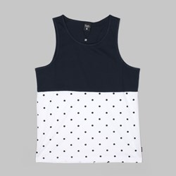 Primitive Dots Tank Top White Navy