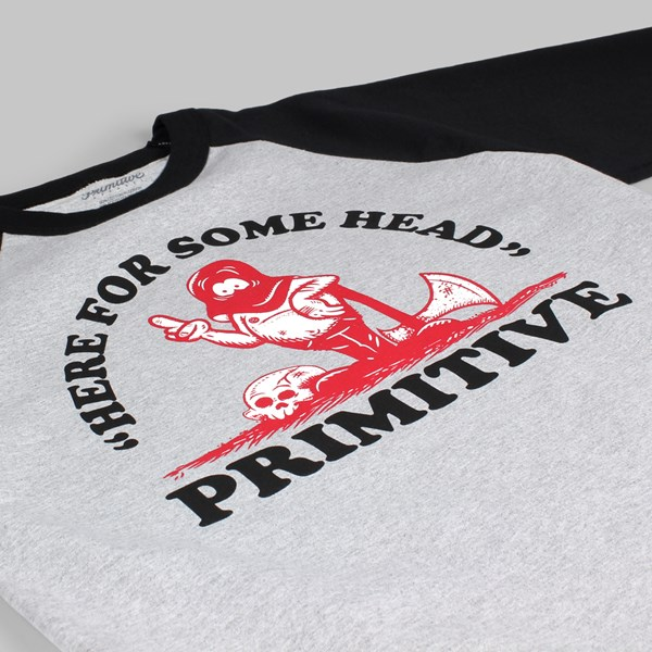 Primitive Headhunter 3/4 Raglan T Shirt Heather