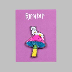 RIP N DIP PSYCHEDELIC PIN BADGE