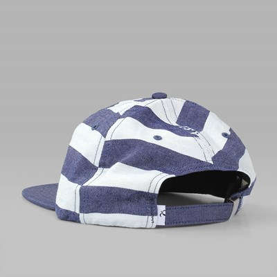 QUASI BARS 6 PANEL CAP STRIPED INDIGO