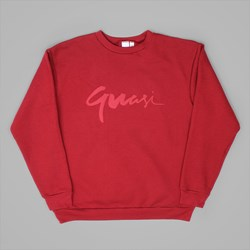 QUASI CENTURY CREW NECK SWEAT CRIMSON