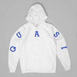 QUASI RELAY PREMIUM HOODED SWEAT WHITE