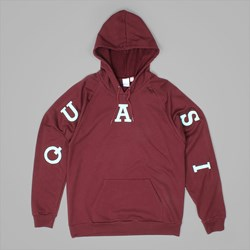 QUASI RELAY PREMIUM HOODED SWEAT WINE