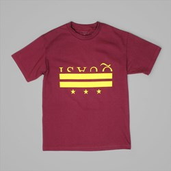 QUASI SKATEBOARDS DISTRICT SS TEE BURGUNDY
