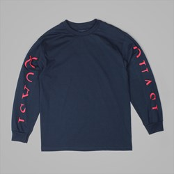 QUASI SKATEBOARDS MONO LONG SLEEVE TEE NAVY