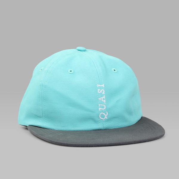QUASI 'TRADEMARK' UNSTRUCTURED CAP AQUA