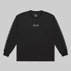POLAR SKATE CO. RACING LOGO LS TEE BLACK
