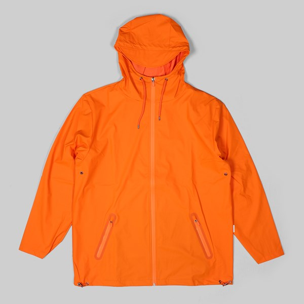 RAINS BREAKER JACKET FIRE ORANGE