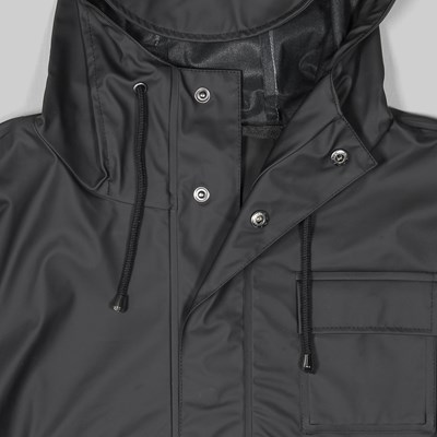 RAINS CAMP ANORAK JACKET BLACK