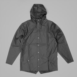 RAINS HOODED JACKET BLACK