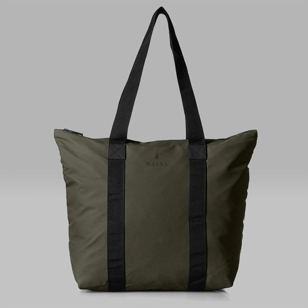 RAINS TOTE BAG RUSH ARMY GREEN