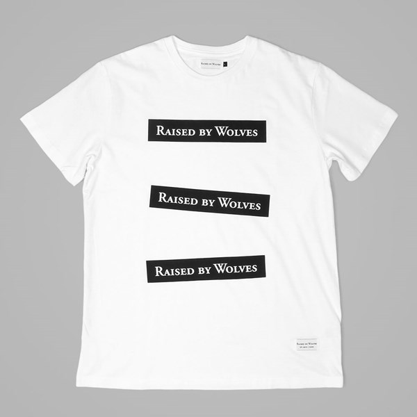 RAISED BY WOLVES BOXXX LOGO T-SHIRT WHITE