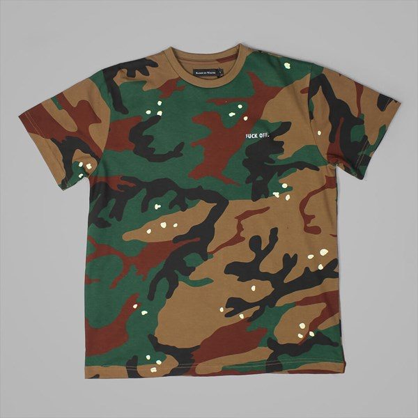 RAISED BY WOLVES FUCK OFF PREMIUM TEE CAMO