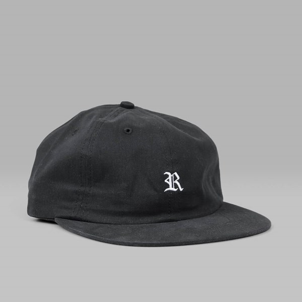 041a713bdf8 RAISED BY WOLVES GOTHIC POLO CAP BLACK BRUSHED TWILL ...