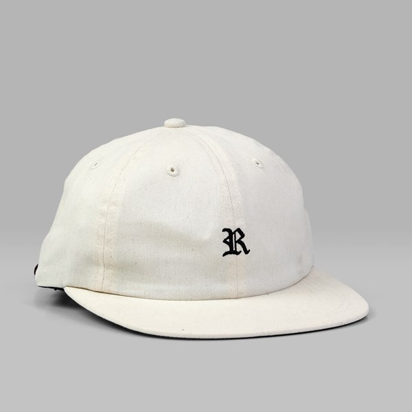 RAISED BY WOLVES GOTHIC POLO CAP NATURAL BRUSHED TWILL