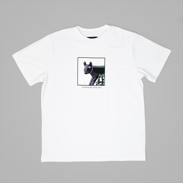 RAISED BY WOLVES HOLIDAY PREMIUM TEE WHITE