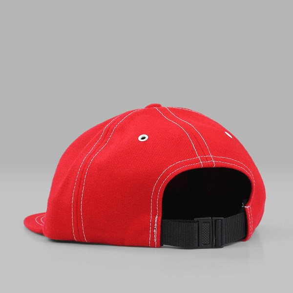 RAISED BY WOLVES JARRY POLO CAP RED WOOL