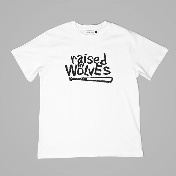 RAISED BY WOLVES NATURE TEE WHITE