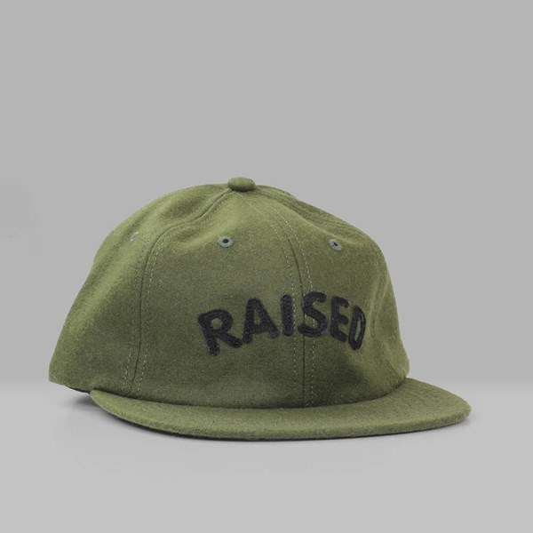 RAISED BY WOLVES RAISED 6 PANEL CAP OLIVE