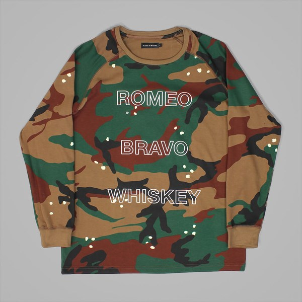 RAISED BY WOLVES ROMEO LS T-SHIRT CAMO