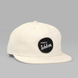 RAISED BY WOLVES VARSITY POLO CAP VANILLA