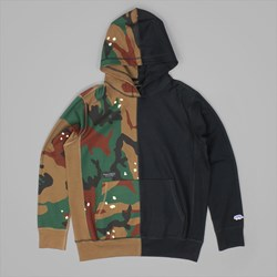 RAISED BY WOLVES VERT PREMIUM HOOD CAMO BLACK
