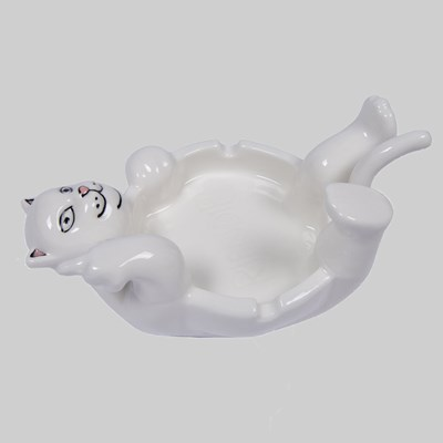 RIP N DIP LAZY NERM CERAMIC ASH TRAY WHITE