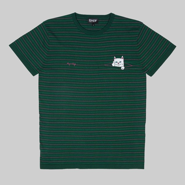 RIP N DIP PEEKING NERMAL KNIT TEE HUNTER GREEN PINK