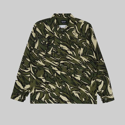 RIP N DIP TIGER NERM RIPSTOP WORK JACKET GREEN CAMO
